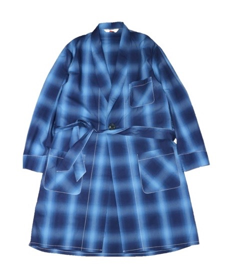 TOWNCRAFT/OMBRE CHECK GOWN.